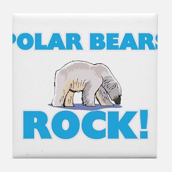 Polar Bears rock! Tile Coaster