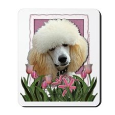 Pink_Tulips_Poodle_Apricot Mousepad