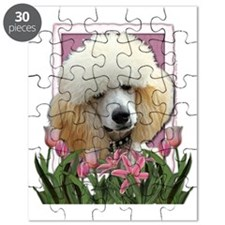 Pink_Tulips_Poodle_Apricot Puzzle