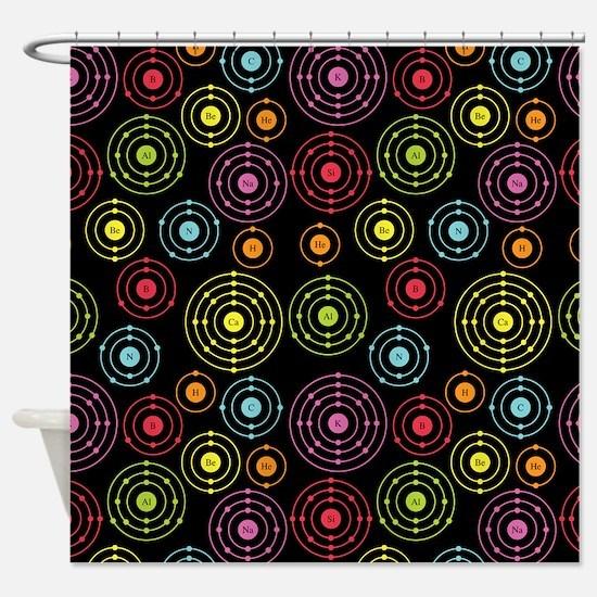 Periodic Shells (Dark) Shower Curtain