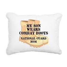 National Guard Mom Son Desert Combat Boots Rectang