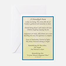 A Hanukkah Poem Greeting Cards