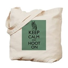 Keep Calm and Hoot On Owl Parody Humor Tote Bag