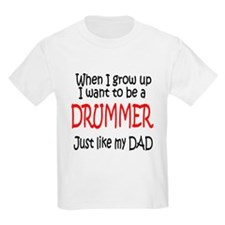 Drummer - like dad Kids T-Shirt