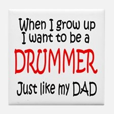Drummer - like dad Tile Coaster