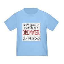 Drummer - like dad T