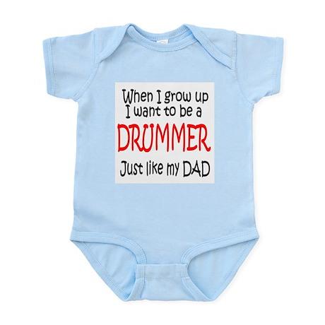 Drummer - like dad Infant Bodysuit