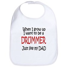 Drummer - like dad Bib