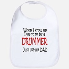 Drummer - like dad Bib