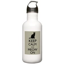 Keep Calm and Meow On Black Cat Humor Parody Water