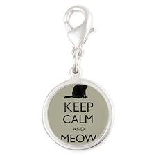 Keep Calm and Meow On Black Cat Humor Parody Charm