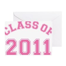 class-of-2011_pink Greeting Card