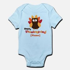 Personalized Happy Thanksgiving Owl Infant Bodysui