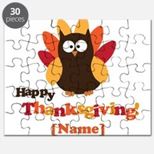 Personalized Happy Thanksgiving Owl Puzzle