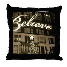 macy's new york city christmas Throw Pillow