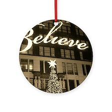 macy's new york city christmas Round Ornament