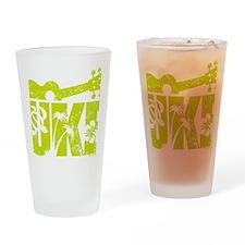 UKE Yellow-Green Drinking Glass