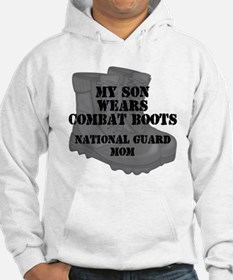 National Guard Mom Son Desert Combat Boots Hoodie