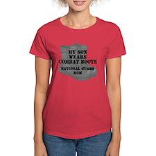 National Guard Mom Son Desert Combat Boots T-Shirt