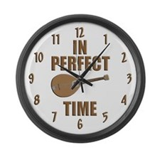 Mandolin Large Wall Clock