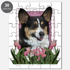 Pink_Tulips_Corgi Puzzle