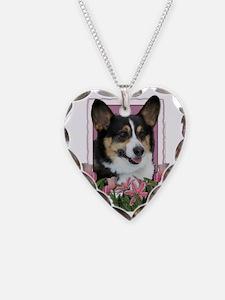 Pink_Tulips_Corgi Necklace