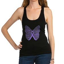 Butterfly Hodgkins Disease Ribbon Racerback Tank T