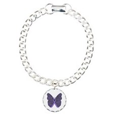 Butterfly Hodgkins Disease Ribbon Bracelet