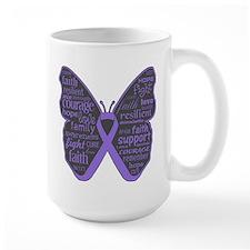 Butterfly Hodgkins Disease Ribbon Mug