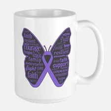 Butterfly Hodgkins Disease Ribbon Mug