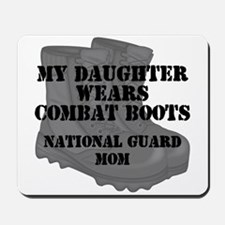 National Guard Mom Daughter Combat Boots Mousepad