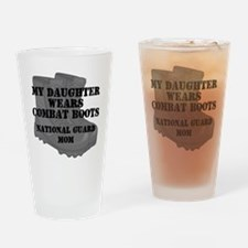 National Guard Mom Daughter Combat Boots Drinking