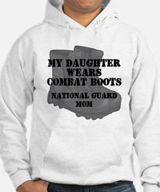 National Guard Mom Daughter Combat Boots Hoodie