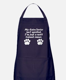 Well Trained Cairn Terrier Owner Apron (dark)