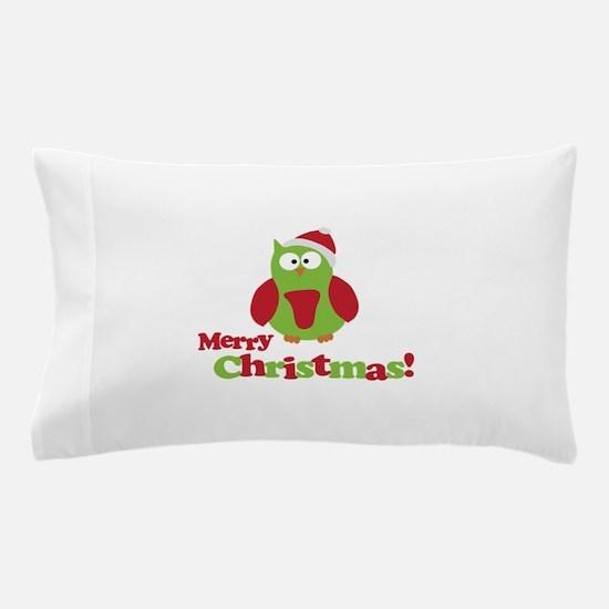 Merry Christmas Owl Pillow Case