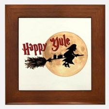 Happy Yule Framed Tile