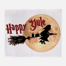 Happy Yule Throw Blanket