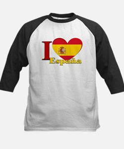 I love Espana - Spain Kids Baseball Jersey