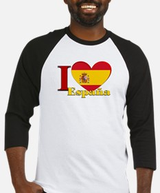 I love Espana - Spain Baseball Jersey