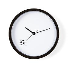 Soccer Goals White Wall Clock
