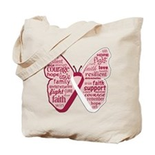 Butterfly Head Neck Cancer Tote Bag