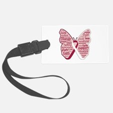 Butterfly Head Neck Cancer Luggage Tag