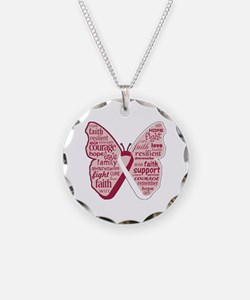 Butterfly Head Neck Cancer Necklace