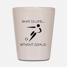 Soccer Goals Black Shot Glass