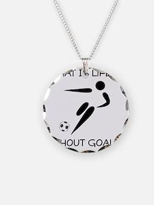 Soccer Goals Black Necklace