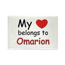 My heart belongs to omarion Rectangle Magnet