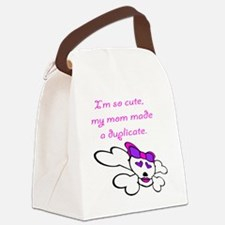 duplicate_pink Canvas Lunch Bag