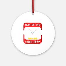 rabbit631999black Round Ornament