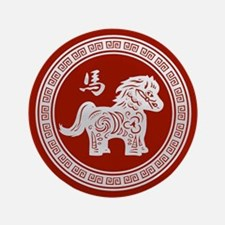 """Year of the Horse 2014 3.5"""" Button (100 pack)"""