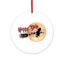 Happy Yule Ornament (Round)